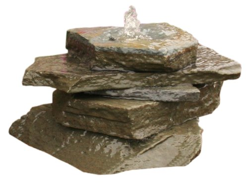 Aqua Rock NYBF Fountain Kit, New York Bluestone Flag Stack