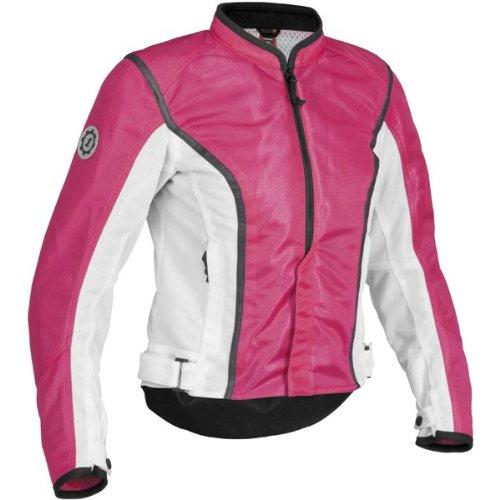 Firstgear Women's Contour Mesh Jacket - X-Large/Pink/White