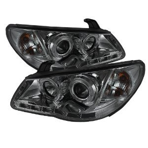 2007 2008 2009 2010 Hyundai Elantra Drl Led Projector Headlights - Chrome