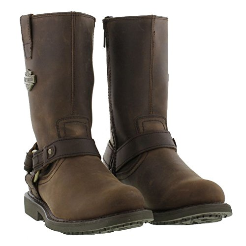 harley davidson 174 biker boots josh brown leather mens bike