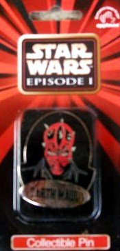 Star Wars Episode 1 Collectible Darth Maul Pin