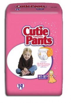 Cuties Refastenable Training Pants- Girls (Case) (4T to 5T (38+ lbs)- 4 Bags of 19) - 1