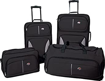 American Tourister Unisex Adult Fieldbrook 4 Piece Luggage Set