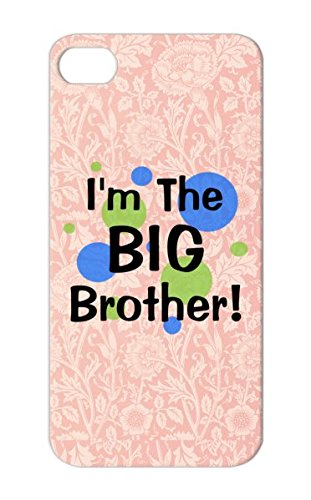 Tpu Imthebigbrother Greenbluecircles Toddler Sibling Pregnancy Siblings Baby Its A Boy Kids Pregnancy Toddlers Kid Big Brother New Brothers Shower Gift Maternity Middle Long Sleeved Humor Navy Shock-Absorbent Protective Hard Case For Iphone 5/5S front-1007631
