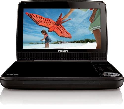 Philips PD9010/12 Lettore DVD Portatile, Display LCD 9 Pollici/23 cm, Nero