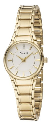 Accurist Gold Plated Ladies Bracelet Watch – LB1864W