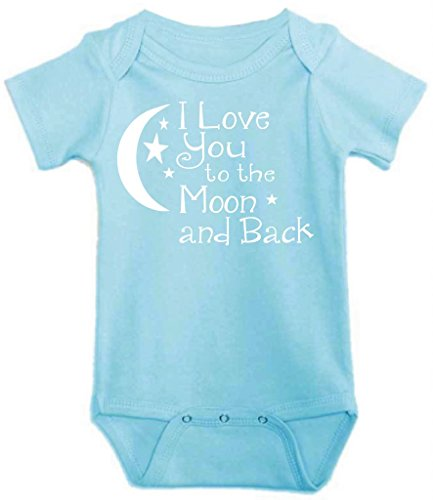 Little Adam And Eve Baby Boys I Love You To The Moon And Onesie 12-18 Months Blue