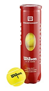 Wilson Championship Extra Duty Tennis Balls - 4 Ball Tube by WISL4