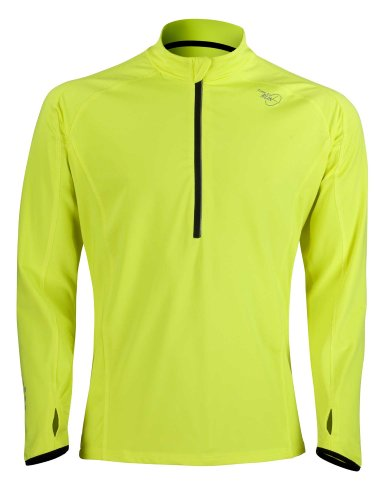 Time To Run Men's Long Sleeve Thermo Zip Neck Top