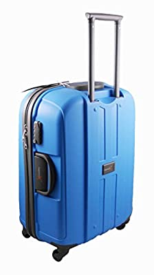 "Luggage X - Set of 3 Lightweight Hard Shell Blue Trolley Suitcases 30"" + 26"" + 22"" - NEXT DAY DELIVERY*"