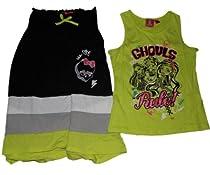 Monster High Girls 3 Way Shirt Maxi Skirt or Dress Set (6/6X, Green)