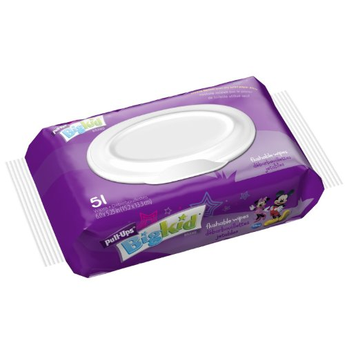 Huggies Pull-ups Flush-able Moist Wipes. Perfect for Toilet Training. 51 Count (Pack of 2) - 1