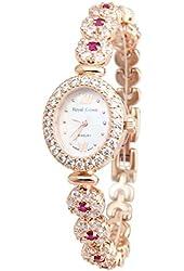 RC Women's Bracelet Wrist Watches Luxury Gold Langii Rg1516b21 Pink CZ Stone