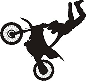 Dirtbike wall decal removable sticker racing motocross