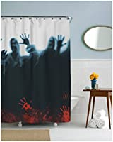 Zombie Herd Shower Curtain Scary Zombies Shower Curtains