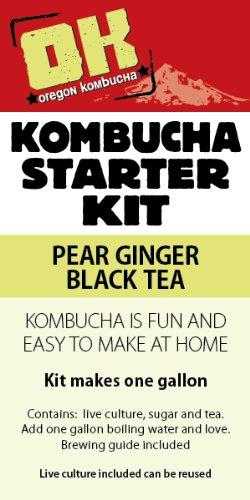Oregon Kombucha Complete Starter Kit - Pear Ginger Black Tea (Kombucha Tea Starter Kit compare prices)