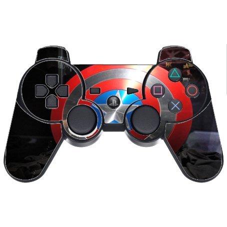 Captain America's Shield PS3 Dual Shock wireless controller Vinyl Decal Sticker Skin (Ps3 Controller Skin America compare prices)