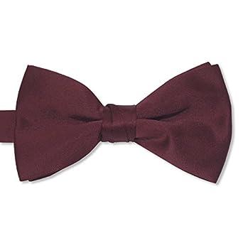 "Burgundy Satin Mens 2 1/2"" Bow Tie"