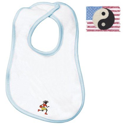 Embroidered Infant Terry Bib with the image of: martial arts