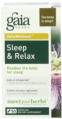Gaia Herbs Sleep & Relax, 50 Capsules