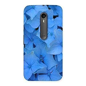 Blue Bush Flower Back Case Cover for Moto G Turbo