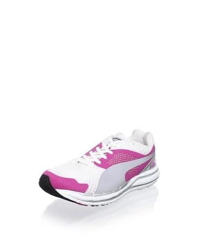 PUMA Women's Faas 800 Winners Running Shoe  - Raspberry Rose /White/Silver