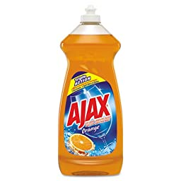 Ajax Dish Detergent, Antibacterial, Orange, 30 oz Bottle