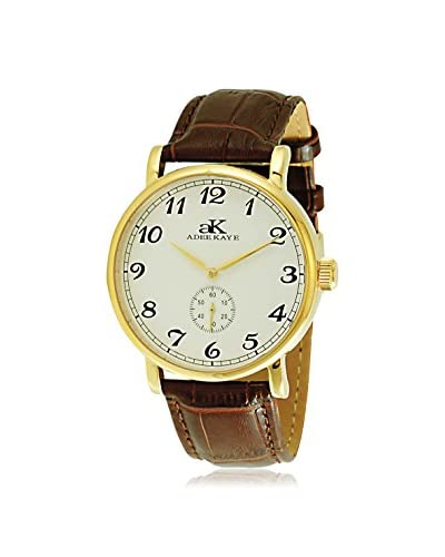 Adee Kaye Women's AK9061-MG/SV Vintage-Mechanical Collection Brown Leather Watch