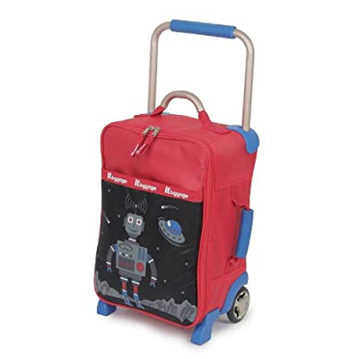 Worlds Lightest Sub 0 G Kids Boys Robot Suitcase - Cabin Size from IT Luggage
