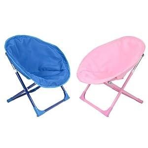 2 x kids bucket moon chair garden camping indoor outdoor for Childrens garden chairs