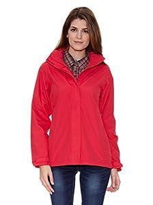 Regatta Midsummer Womens Waterproof Windproof Hooded Pink Jacket Size 10