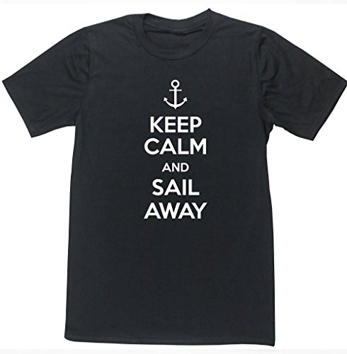 HippoWarehouse-Keep-Calm-and-Sail-Away-unisex-short-sleeve-t-shirt