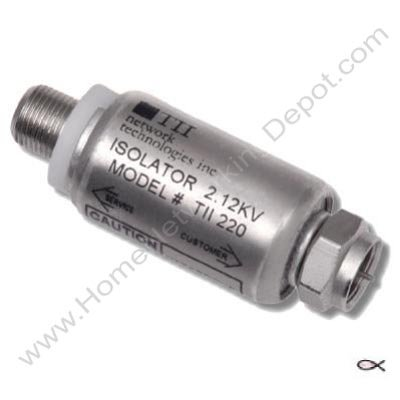 Tii 220 Ground Loop Isolator For Cable Tv Applications