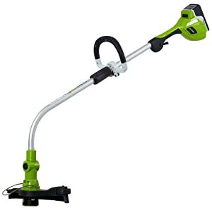 GreenWorks 21072 Gen1 20V 12-Inch String Trimmer - 20V Li-Ion 6.0 AH Battery and Charger Inc. (Discontinued by Manufacturer)