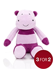 Stripy Mini Hippo Soft Toy
