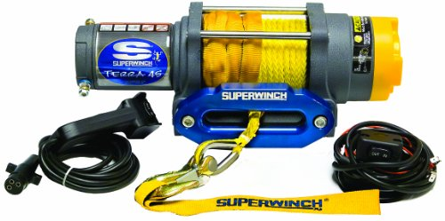 Sale!! Superwinch 1145230 Terra 45 4500lbs/2046kg single line pull with hawse, handlebar mnt toggle,...