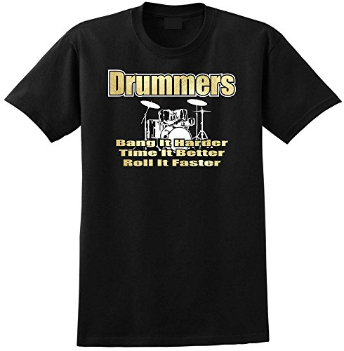 Drum-Kit-Drummers-Bang-Harder-Music-T-Shirt-13-Gren-5-Jahr-6XL-MusicaliTee