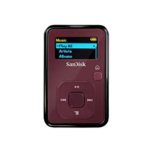SanDisk Sansa Clip+ 4 GB MP3 Player (Red)