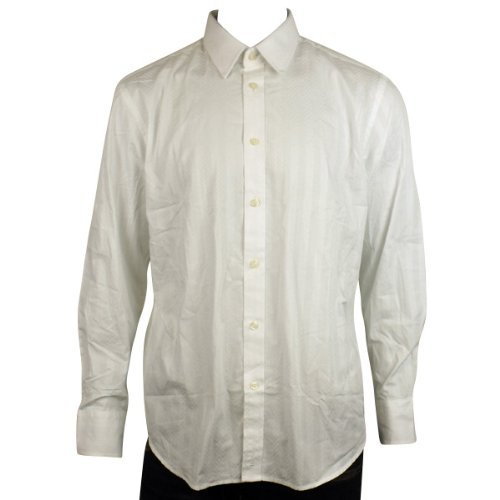 Mens Ben Sherman Mod Formal White Long Sleeve Oxford Cotton Shirt Size XL