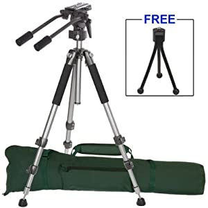 "Ravelli AVT Professional 67"" Video Camera Tripod with Fluid Drag Head"