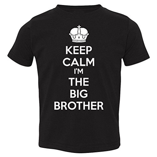 T-Shirt Universe Keep Calm I'm The Big Brother Baby-Boys & Kids T-Shirt (Black, Youth X-Large (18-20)) (Im The Little Brother Shirt compare prices)