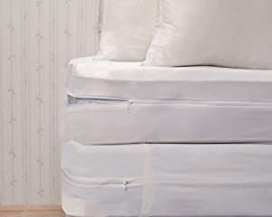 Bed Bug Proof Complete Basic Bedding Set, California King, 16-Inch