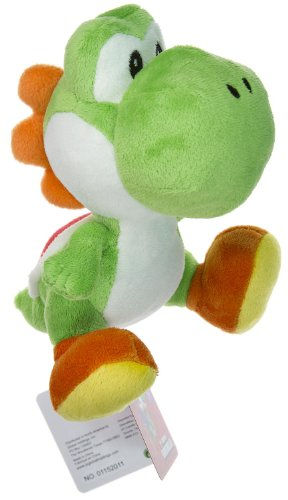 Buy Low Price Global Holdings Nintendo Super Mario Bros. Wii Plush Toy – 6″ Green Yoshi Figure (B004XNEOKW)