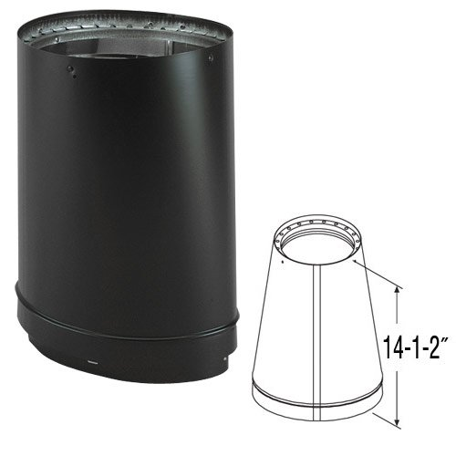 6'' DVL Oval-to-Round Adapter - 8670 (Wood Stove Flue Adapter compare prices)