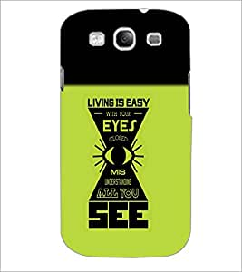 PrintDhaba Quote D-4212 Back Case Cover for SAMSUNG GALAXY S3 (Multi-Coloured)