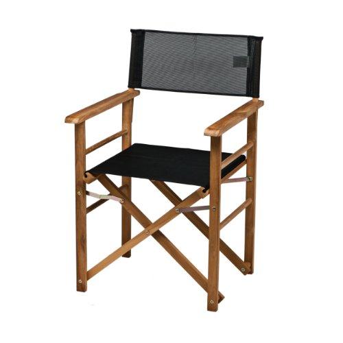 holz regiesessel kunststoffgewebe schwarz. Black Bedroom Furniture Sets. Home Design Ideas