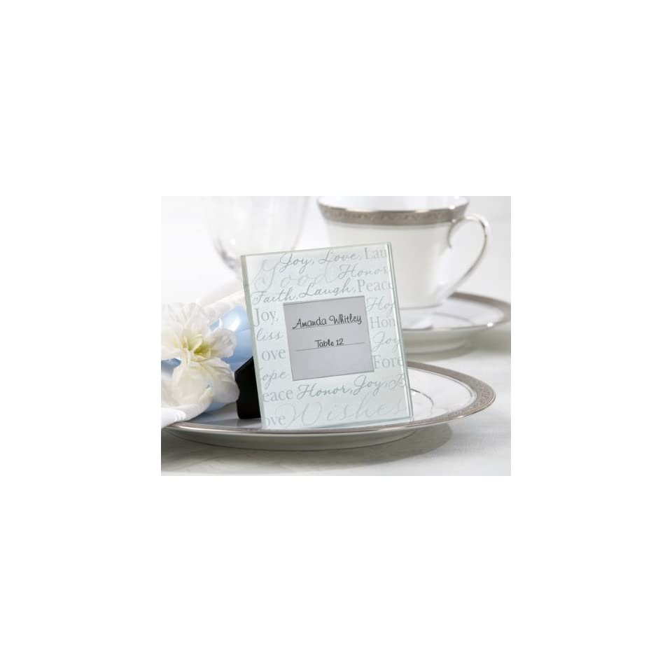 Good Wishes Pearlized Glass Photo Frame/Place Card Holder (Set of 192)   Baby Shower Gifts & Wedding Favors
