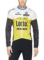 Santini Maillot Ciclismo (Amarillo / Blanco / Negro)