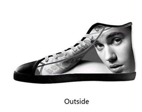 Shoestime Custom Justin Bieber Boy's High-top Canvas Shoes (Justin Bieber Shoes For Boys compare prices)