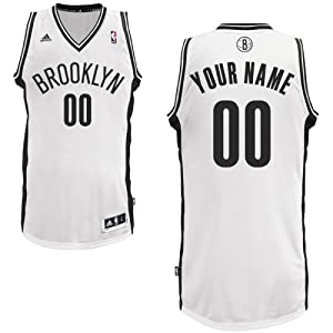 adidas Brooklyn Nets Custom Swingman Home Jersey by adidas